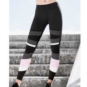 Pants - Pink Wave Color block Legging